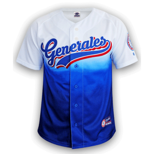 Jersey Generales de Durango Blanco Azul Sublimado 2019