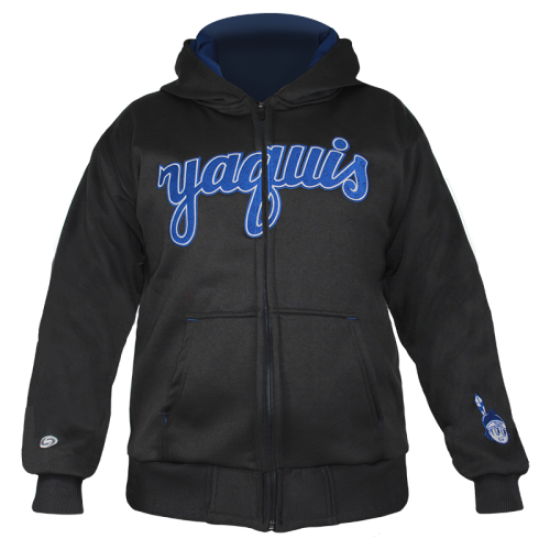Hoodie Yaquis Caballero gris oxford 19-20
